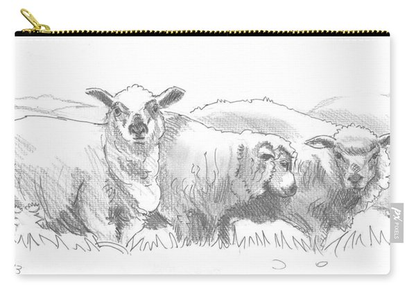 Sheep Drawing Carry-all Pouch