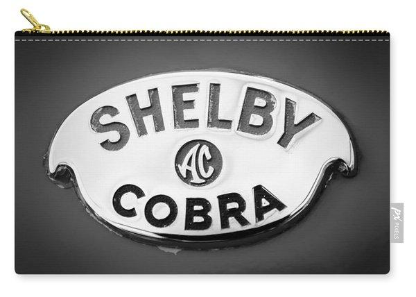 Shelby Ac Cobra Emblem -0282bw Carry-all Pouch