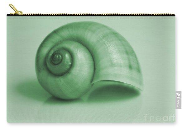 Shell. Light Green Carry-all Pouch