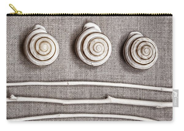Shells And Sticks Carry-all Pouch