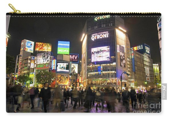 Shibuya Crossing At Night Tokyo Japan  Carry-all Pouch