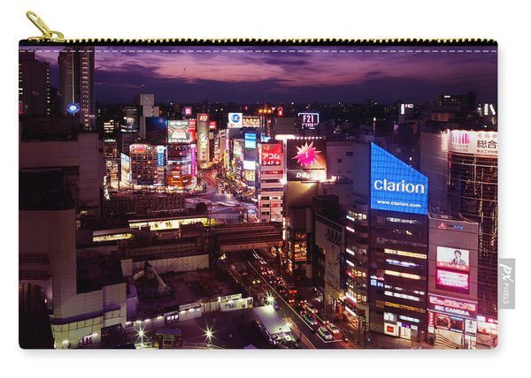Shibuya Station Aerial View Tokyo Carry-all Pouch