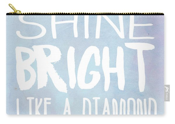 Shine Bright Blue Carry-all Pouch