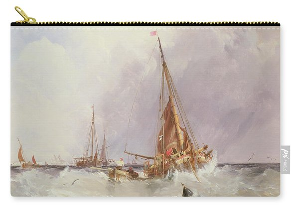 Shipping In The Solent 19th Century Carry-all Pouch