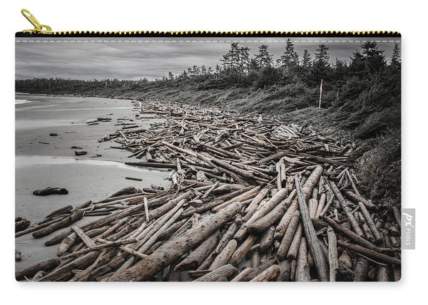 Shoved Ashore Driftwood  Carry-all Pouch