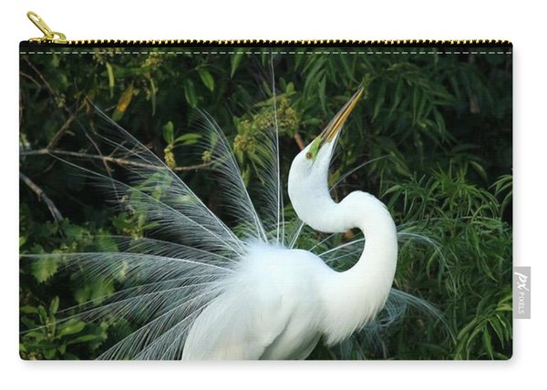 Showy Great White Egret Carry-all Pouch