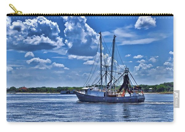 Shrimp Boat Heading To Sea Carry-all Pouch