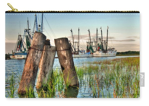 Shrimp Dock Pilings Carry-all Pouch