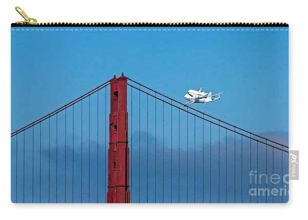 Shuttle Endeavour At The Golden Gate Carry-all Pouch