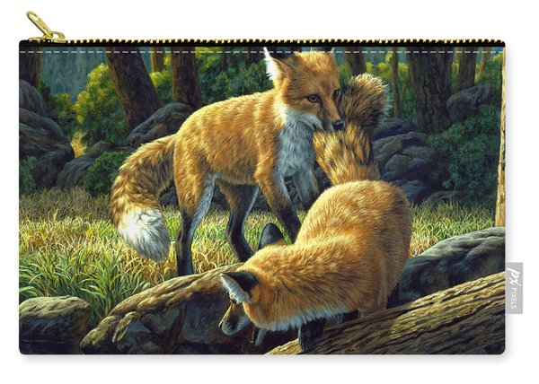 Red Foxes - Sibling Rivalry Carry-all Pouch