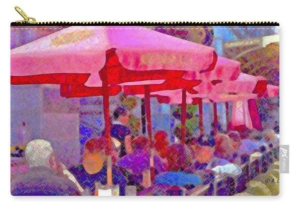 Sidewalk Cafe Digital Painting Carry-all Pouch