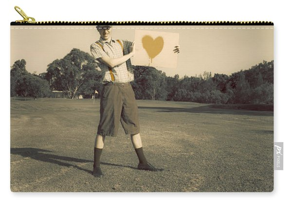 Sign Of An Antique Golfer Carry-all Pouch