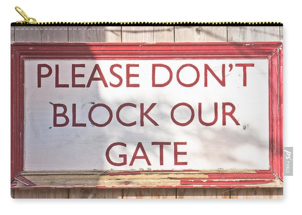 Sign On Gate Carry-all Pouch