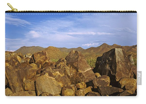 Signal Hill With Petroglyphs, Saguaro Carry-all Pouch