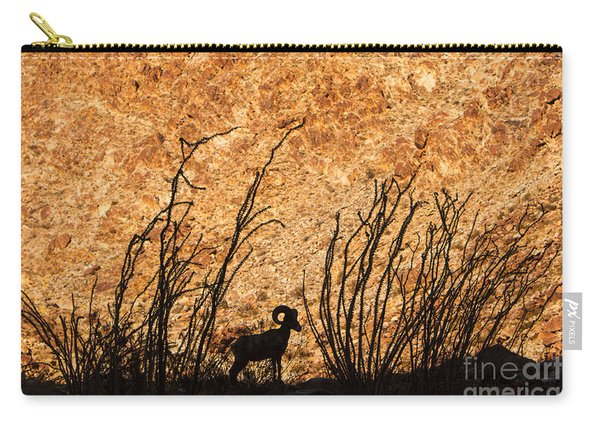 Silhouette Bighorn Sheep Carry-all Pouch