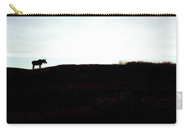 Silhouette Of A Moose On Ridge, Denali Carry-all Pouch