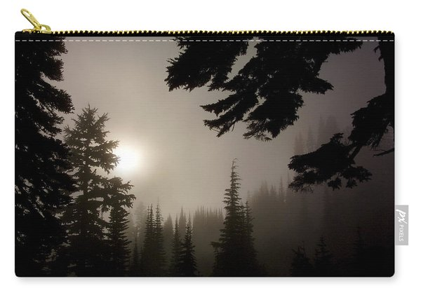 Silhouettes Of Trees On Mt Rainier Carry-all Pouch