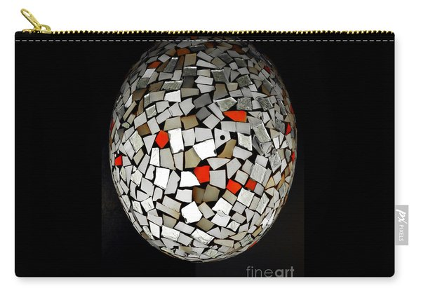 Carry-all Pouch featuring the digital art Silver Egg by Eleni Mac Synodinos