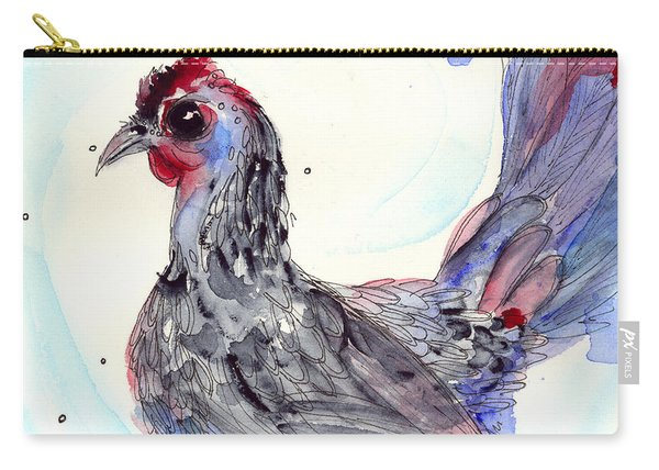 Silver Hen Carry-all Pouch