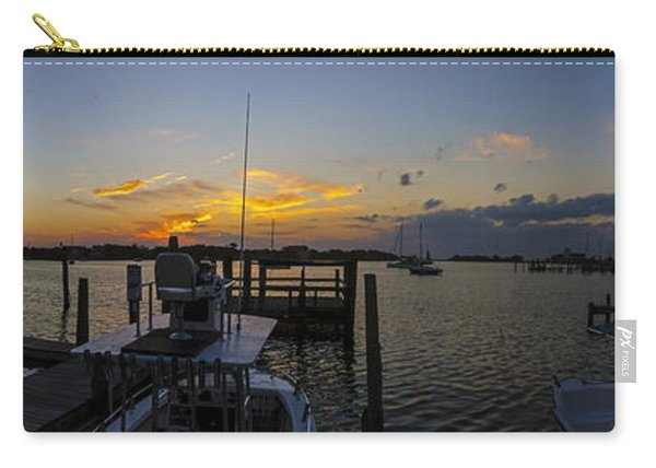 Silver Lake Sunset Panorama Carry-all Pouch