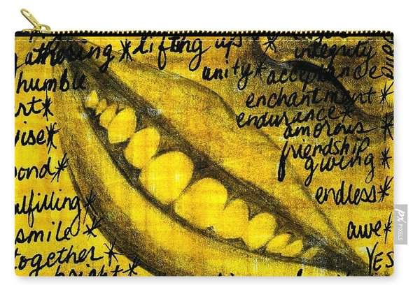 Simply Smile And Your Golden Virtues Will Be Written All Over You Carry-all Pouch