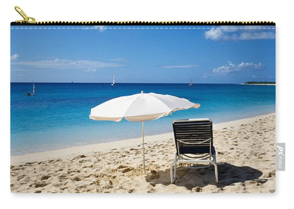 Single Beach Chair And Umbrella On Carry-all Pouch