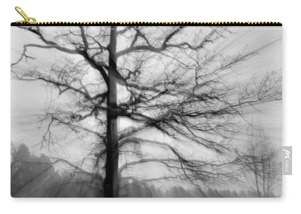 Single Leafless Tree In Winter Forest Carry-all Pouch
