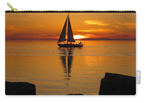 Sister Bay Sunset Sail 2 Carry-all Pouch