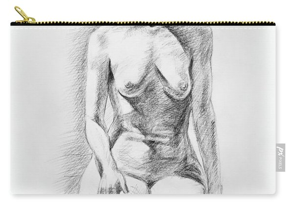 Sitting Model Study Carry-all Pouch