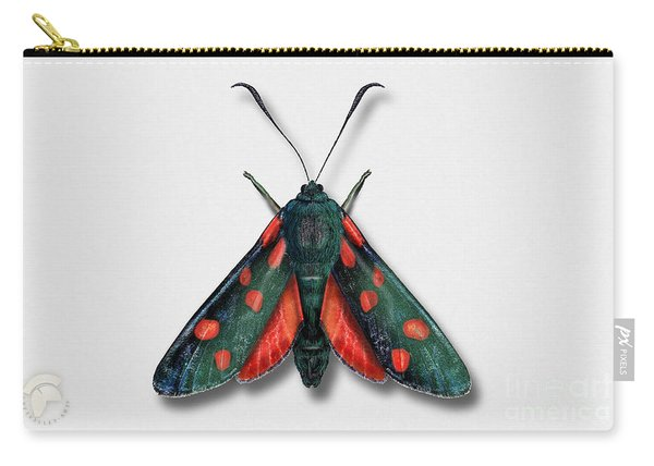 Six Spot Burnet Butterfly - Zygaena Filipendulae Naturalistic Painting - Nettersheim Eifel Carry-all Pouch