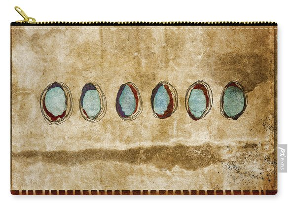 Six Turquoise Moons Carry-all Pouch
