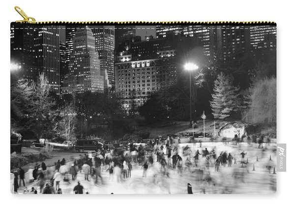 New York City - Skating Rink - Monochrome Carry-all Pouch