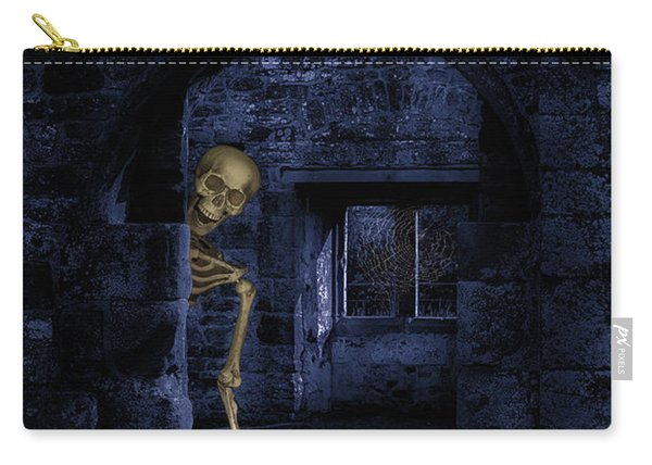 Skeleton At Halloween Carry-all Pouch