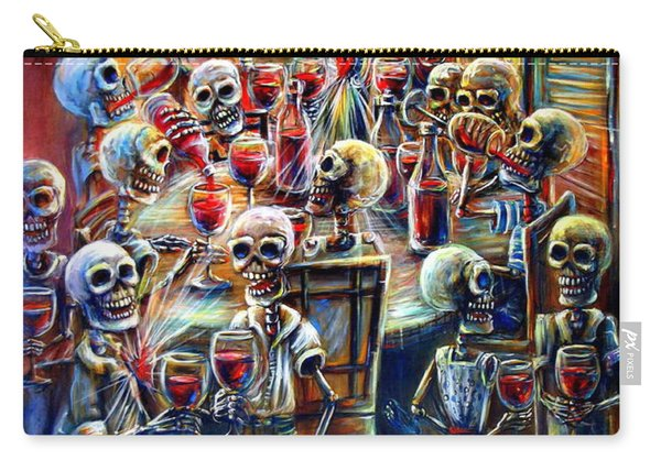 Skeleton Wine Party Carry-all Pouch