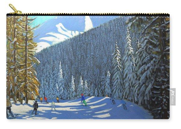 Skiing  Beauregard La Clusaz Carry-all Pouch