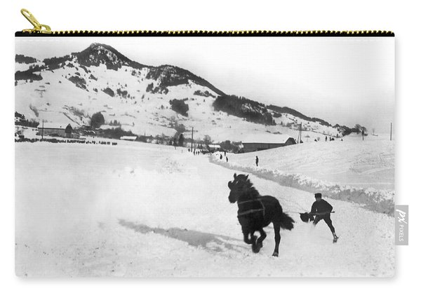 Skijoring In The Alps Carry-all Pouch