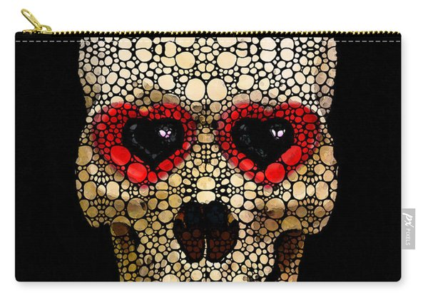Skull Art - Day Of The Dead 3 Stone Rock'd Carry-all Pouch