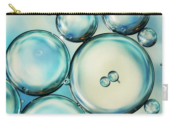 Sky Blue Bubble Abstract Carry-all Pouch