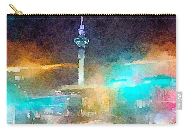 Sky Tower By Night Carry-all Pouch
