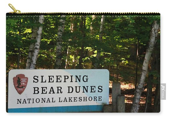 Sleeping Bear Dunes Sign Carry-all Pouch