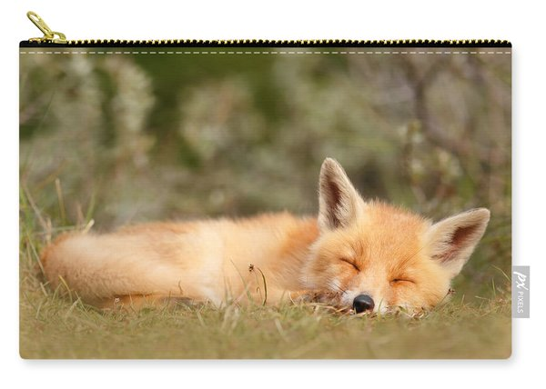 Sleeping Cuty _ Red Fox Kit Carry-all Pouch