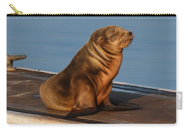 Sleeping Wild Sea Lion Pup  Carry-all Pouch