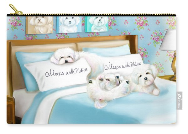Sleeps With Maltese Carry-all Pouch
