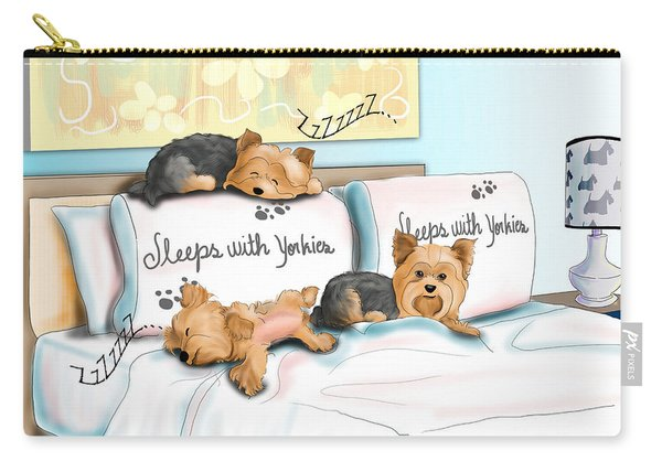 Sleeps With Yorkies Carry-all Pouch