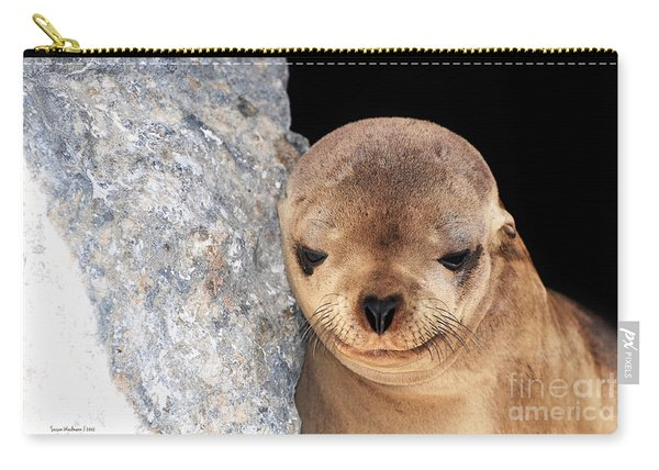 Sleepy Baby Sea Lion Carry-all Pouch
