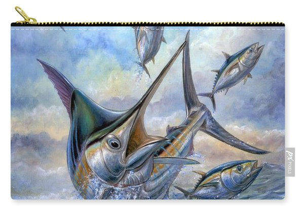Small Tuna And Blue Marlin Jumping Carry-all Pouch