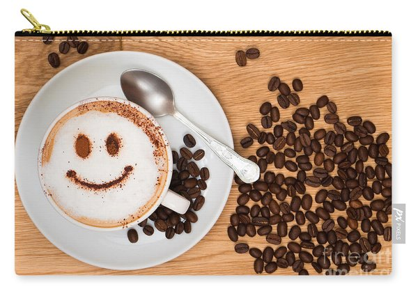 Smiley Face Coffee Carry-all Pouch