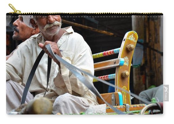Smiling Man Drives Horse Carriage In Lahore Pakistan Carry-all Pouch