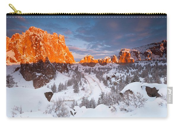 Smith Rock Snow Storm Carry-all Pouch