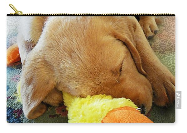 Snoozing With My Duck Fell Asleep On A Job Puppy Carry-all Pouch